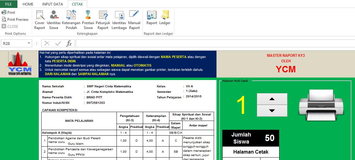 Master Raport K13 Smp Republik Cinta Matematika